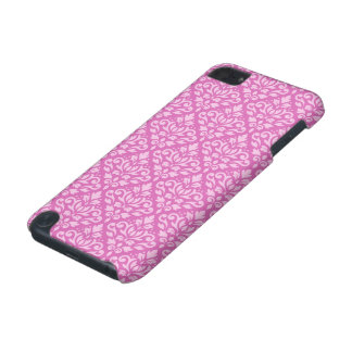 Scroll Damask Pattern Light on Dark Pink iPod Touch (5th Generation) Cover