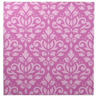 Scroll Damask Pattern Light on Dark Pink Napkin