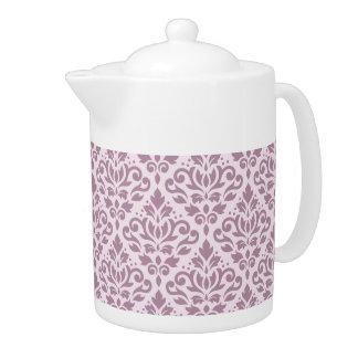 Scroll Damask Pattern Mauve on Pink