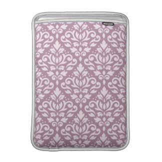 Scroll Damask Pattern Pink on Mauve Sleeve For MacBook Air