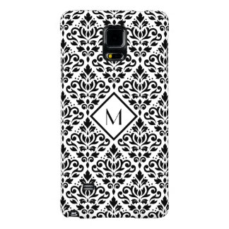Scroll Damask Ptn Black on White (Personalized) Galaxy Note 4 Case