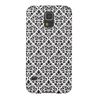 Scroll Damask Repeat Pattern Black on White Galaxy S5 Case