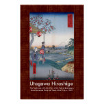 Scroll Design Hiroshige Mt Fuji Through the Waves Poster