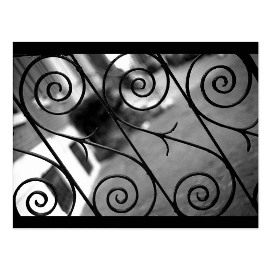 Scroll Railing Postcard