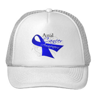 Scroll Ribbon - Anal Cancer Awareness Trucker Hat