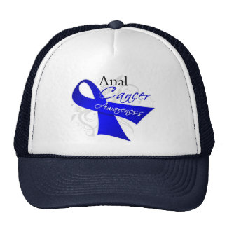 Scroll Ribbon - Anal Cancer Awareness Mesh Hats