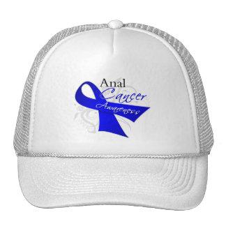 Scroll Ribbon - Anal Cancer Awareness Mesh Hat