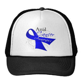 Scroll Ribbon - Anal Cancer Awareness Hats