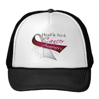 Scroll Ribbon Head and Neck Cancer Awareness Hats