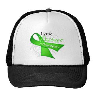 Scroll Ribbon - Lyme Disease Awareness Mesh Hat