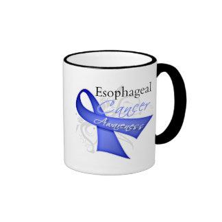 Scroll Ribbon Oesophageal Cancer Awareness Ringer Mug