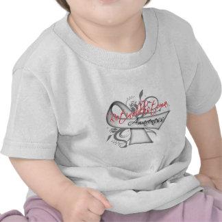 Scroll Ribbon Retinoblastoma Awareness T Shirts