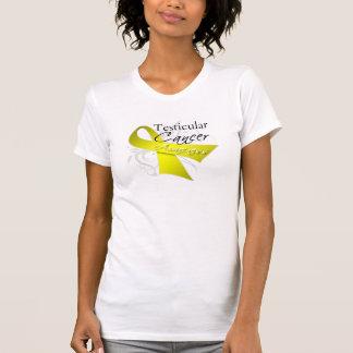 Scroll Ribbon Testicular Cancer Awareness Tshirts