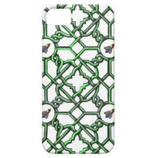 Scroll Trellis with Big Nosed Bees iPhone 5 Cover