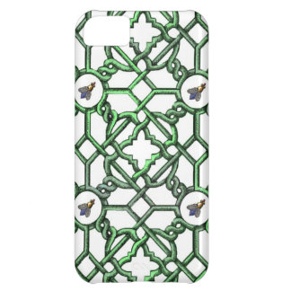 Scroll Trellis with Big Nosed Bees iPhone 5C Case
