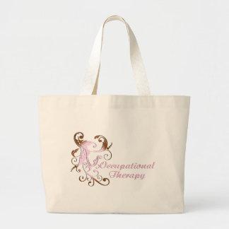 scrollart leaves 2 pink-brown no box2 jumbo tote bag