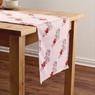 Scrolled Hearts kash003 Short Table Runner