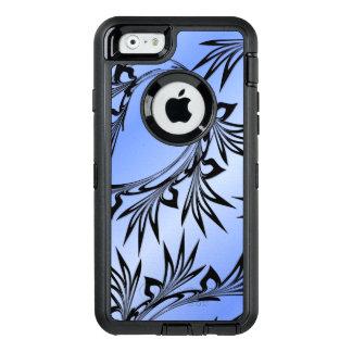 Scrolled Leaf on Blue OtterBox Defender iPhone Case