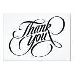 Scrolled thank you 5x7 paper invitation card