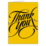 Scrolled thank you greeting card