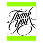 Scrolled thank you postcard