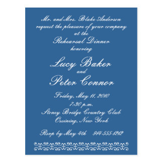 Scrollwork Invite (Customizable) Postcard
