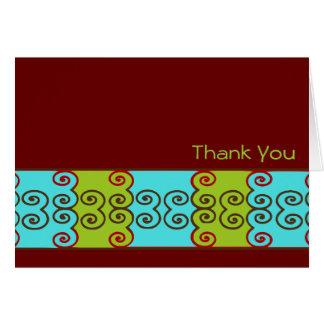 Scrollwork Thank You Card