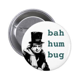 scrooge, 6 cm round badge