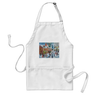 Scrooge A Christmas Carol winter snow scene ghosts Standard Apron