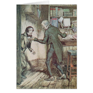 Scrooge and Bob Cratchit Card