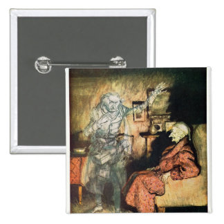 Scrooge and The Ghost of Marley 15 Cm Square Badge