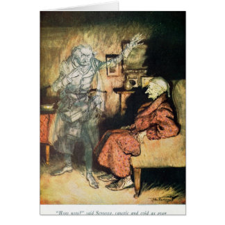 Scrooge and The Ghost of Marley Card