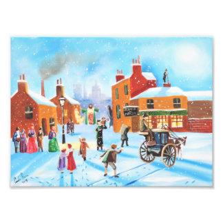 Scrooge and Tiny Tim  a Christmas Carol Photo Print