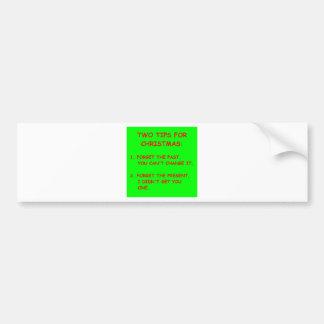 scrooge bumper sticker