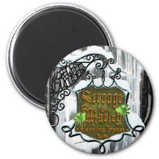 Scrooge&MarleySignScene 6 Cm Round Magnet