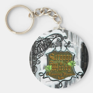 Scrooge&MarleySignScene Basic Round Button Key Ring