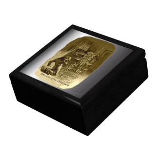 Scrooge of Christmas - A Christmas Carol Large Square Gift Box