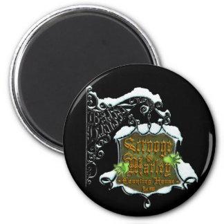 ScroogeHauntedSign 6 Cm Round Magnet