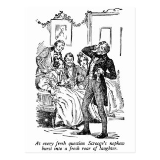 Scrooge's Nephew (with text) Postcard