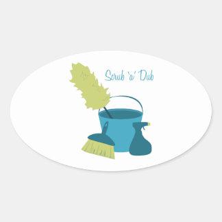 Scrub 'A' Dub Oval Sticker