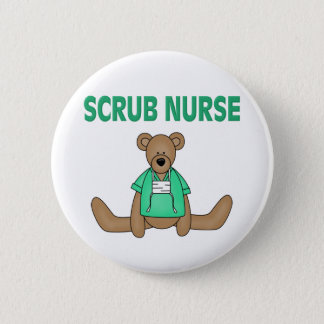 Scrub Nurse Bear 6 Cm Round Badge