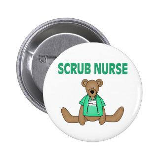 Scrub Nurse Bear Buttons