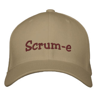 Scrum-e Flexfit Cap Embroidered Embroidered Baseball Caps