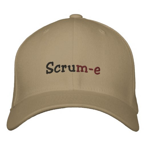 Scrum-e Flexifit Embroidered Cap Embroidered Baseball Caps