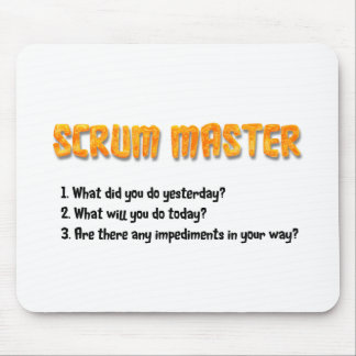 Scrum Master Sprint Questions Mouse Mat