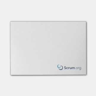 Scrum.org Sticky Notes - White
