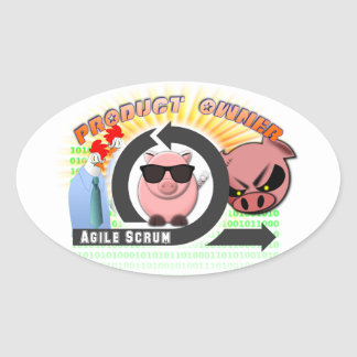 Scrum Product Owner - Agile Oval Sticker