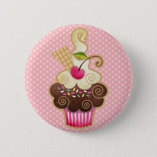 Scrumptious Cupcake 6 Cm Round Badge