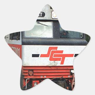 SCT001 locomotive train engine Star Sticker