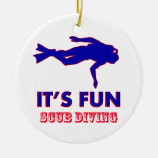 scub diving Designs Round Ceramic Decoration